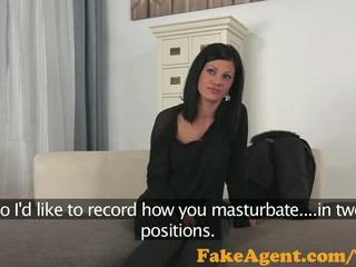 Fakeagent gyzykly zagar alan brunet fucked hard before taking spunk in her mouth