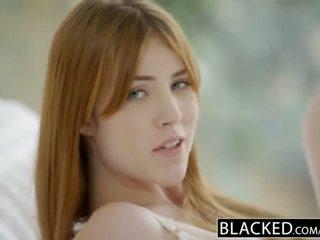 Blacked gwen stark και amarna miller πρώτα διαφυλετικό τρίο