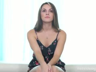 Smart Sexy Coed Gets Wild During Calendar Audition