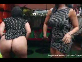 Angelina castro と ミス raquel プッシー 遊ぶ で ザ· 雨!