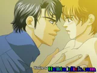 Strip homo kussen en anaal pumping