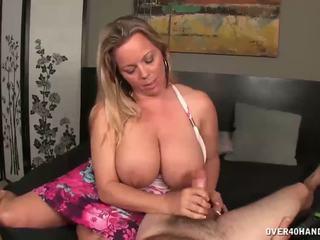 Krūtainas mammīte jerks no viņai netīrs step-son