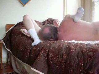 Old dude pumps her pussy hard Video