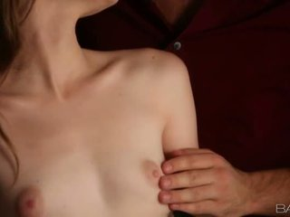 Cute Alice March jizzed on perky tits