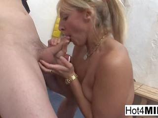 Euro MILF Eva gets Cum on Her Natural Tits: Free HD Porn 27