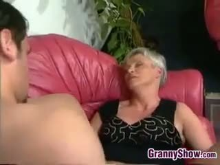 granny, blowjob, blonde