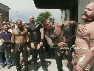 Blonde nordic gay disgraced in public