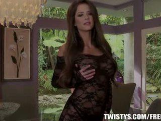 Emily addison strips з з її bodysuit