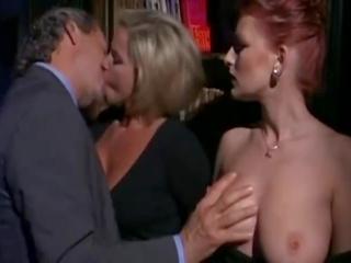 kissing, licking, redhead