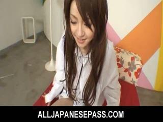 Hapon cutie ria sakurai has kanya furry muff filled may titi