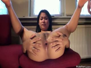 Anal With Asian Girl On The Sofa