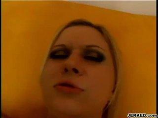 Blondt aaralyn barra receives henne stram hole pounded hardt