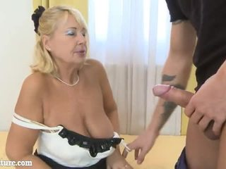 Sexy Granny make doing stript and suck dick Video