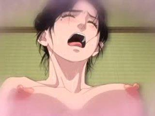 Gek romantiek anime film met uncensored futanari, groot