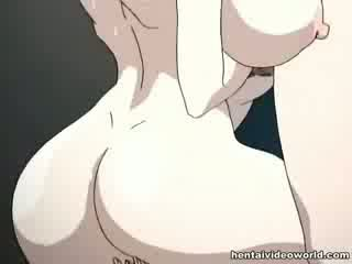 Loads ng hentai pananamod ibuhos out ng kanya both holes