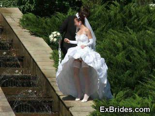 Huwelijk dag upskirts!