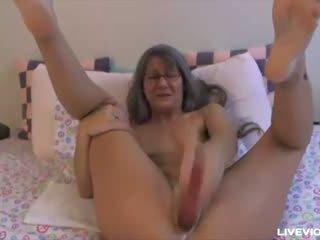 masturbating, grandma, solo