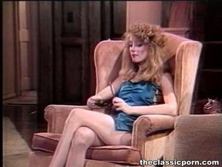 porn stars, porn girl and men in bed, old porn