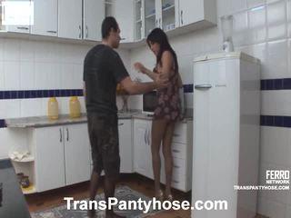 Mengen van vids door trans panty