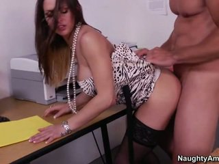 Rachel gets fucked right on a desk