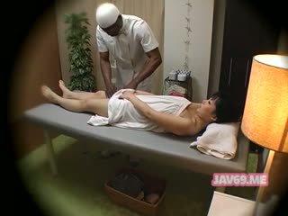 japoński, masaż, ukrytych kamer