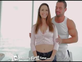 My Very First Time Bucket List Explorer Brunette Ashley Adams Tries Anal