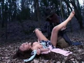 Woman ravished by a zombie