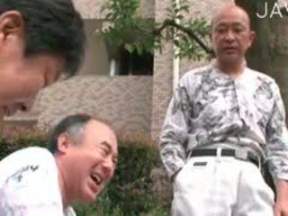 japoński, stary + młoda, majtki