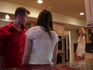 kitchen, family, caught, dana dearmond, milf, stepmother