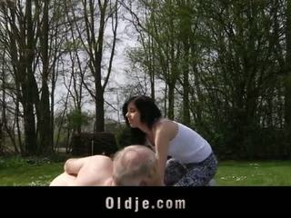 Hunk Senior Fucks Young, Beautiful Daniella Rose In A Wild Outdoor Fuck