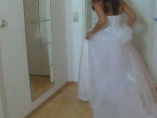 Gaja em dela casamento vestido fodido difícil 1