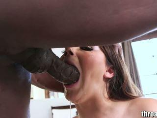 mais quente morena, a maioria sexo oral diversão, assistir deepthroat novo