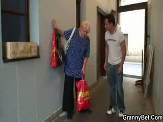 Young Man Pounds Fat Granny