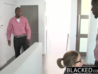 Blacked remaja seks tiga orang dengan two besar sekali dicks