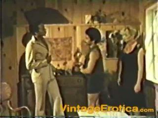 Ένα παλιάς χρονολογίας ταινία του an διαφυλετικό καβλί loving μουνί