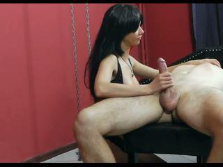 Mistress Torturing and Jerking Bondaged Men: Free Porn 08