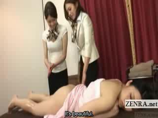 Subtitled japans lesbisch reet olie massage opleiding