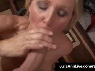 Apbalvojums winning mammīte julia ann gets sperma uz viņai acs par the darbs!