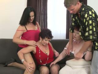 grote borsten, grannies, matures