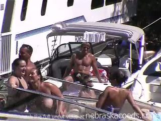 Wild and free and naked on a boat