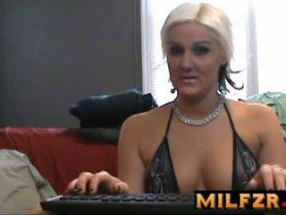 Mom Son on webcam