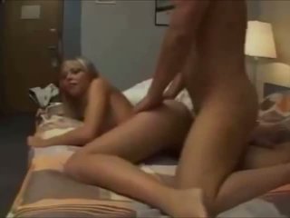 Hot creampie for blonde hottie on homemade