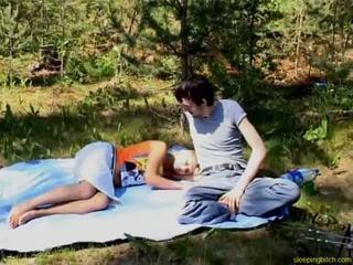 Sleeping Teen Outdoor Fuck