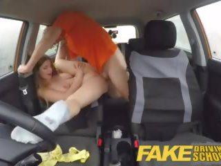 Fake driving okul tam sahne - sıcak bira ters grup seks ile büyük doğal tüysüz fucks için erken götten i̇kili