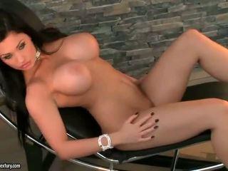 brunette, naked, passionate