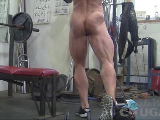 masturbācija, masturbates, female bodybuilder