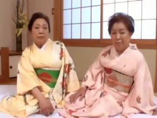 ญี่ปุ่น, bbw, ยาย