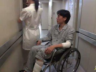 Hikaru ayami the duke pirë duhan i tmerrshëm kineze infermiere has i bërë dashuria i madh