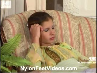 발 페티쉬, 섹스 스타킹, nylons feet