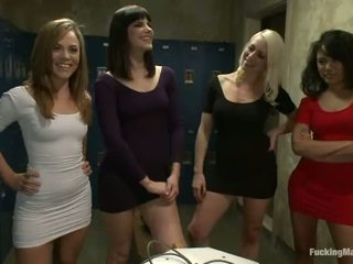 Four Sleaze Bimbos Have Got Laid By Having Fucking Machines